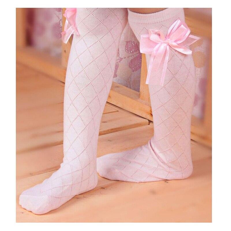 Ribbon Bow Girls Baby Toddlers Kids Children Knee High School Socks 1y-8y