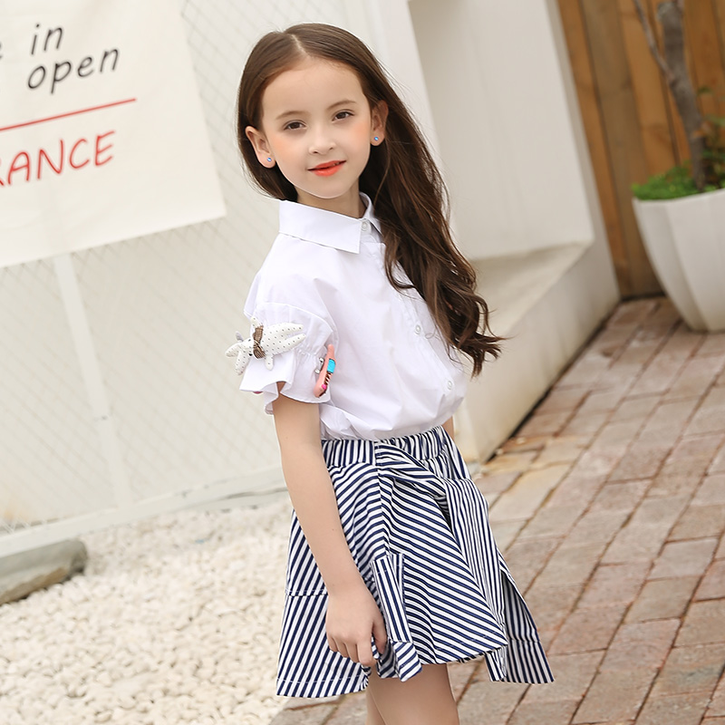 1abc37ec4e821 US $29.68 44% OFF|Teenage Girls Clothing Sets for Teens Girl Children  Summer Half Sleeves T Shirts+Skirt Pants 11 12 13 14 Kids Clothes 2pcs  Sets-in ...