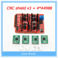 Free Shipping New CNC Shield V3 Engraving Machine A4988 Driver Expansion Board