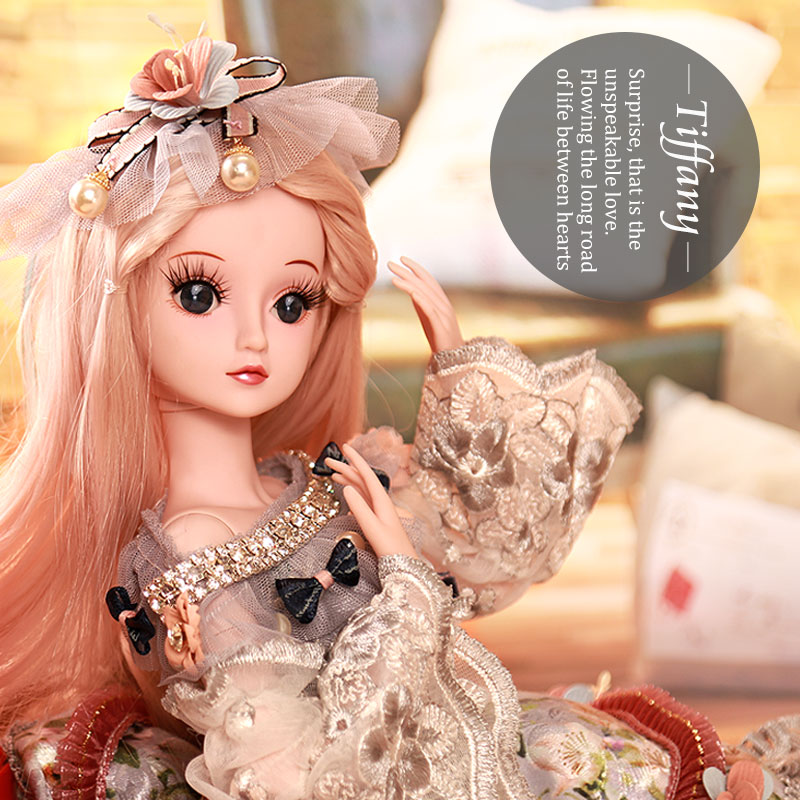 BARBIE 1/3 BJD Doll 19 Moveable Joint Body Princess Babe Doll 60cm Wedding Design Dress Suite Kids Toy Brinquedo Girl Gift