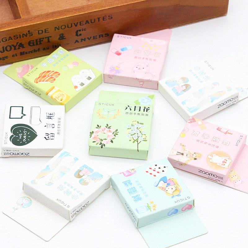 40sheet/set Cartoon Characters And Flowers Sticker DIY Scrapbooking Paper Diary Album Planner Wedding Waterproofing Decoration