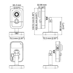 Image 4 - Hikvision الأصلي IP كاميرا بشكل قبة DS 2CD2443G0 IW 4MP الأشعة تحت الحمراء الثابتة مكعب واي فاي PoE المدمج في مكبر الصوت المدمج في هيئة التصنيع العسكري دعم onvif