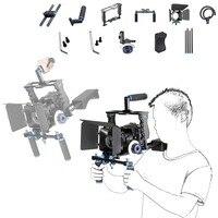 DSLR Rig Видео стабилизатор комплект фильм оборудования Матовая коробка + клетка + плечевая + Следуйте Фокус для DSLR видеокамера