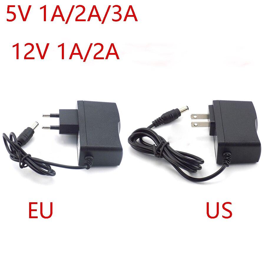 Power Adapter AC to DC 5V 1 2 3A 12V 1A 2A Adaptor 5 12 v Switching Charger Supply EU US Plug transformator 220V For Led Strip 201w led switching power supply 85 265ac input 40a 16 5a 8 3a 4 2a for led strip light power suply 5v 12v output