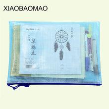 5 sztuk paczka wodoodporny przezroczysty zamek torba na dokumenty z tworzywa sztucznego PVC A6 A5 A4 uchwyt na dokumenty torby na dokumenty artykuły papiernicze artykuły szkolne tanie tanio XLG837 XIAOBAOMAO a6 a5 a4