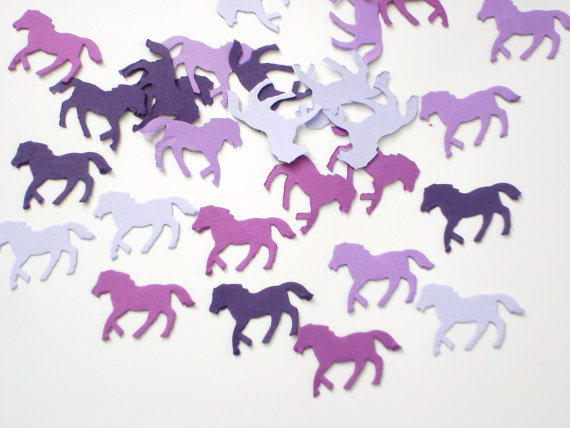 Mixed Purple Horse Kentucky Derby Confetti Baby Shower Decorations Birthday  Wedding Bridal PartyTable Decor Scrapbook Confettis In Banners, ...