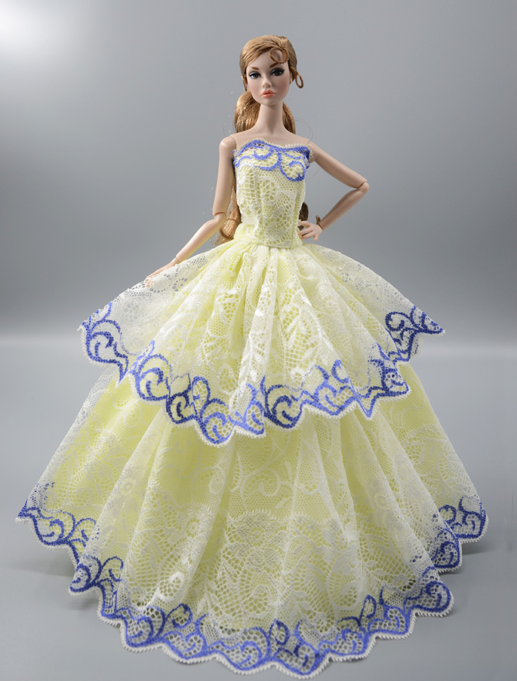 6cfa3febfdb18 2019 NEW Colorful Flower Lace Dress , Party Wedding Gown Skirt Clothing For  Toy 1/6 Barbie Xinyi Kurhn FR Doll barbie clothes