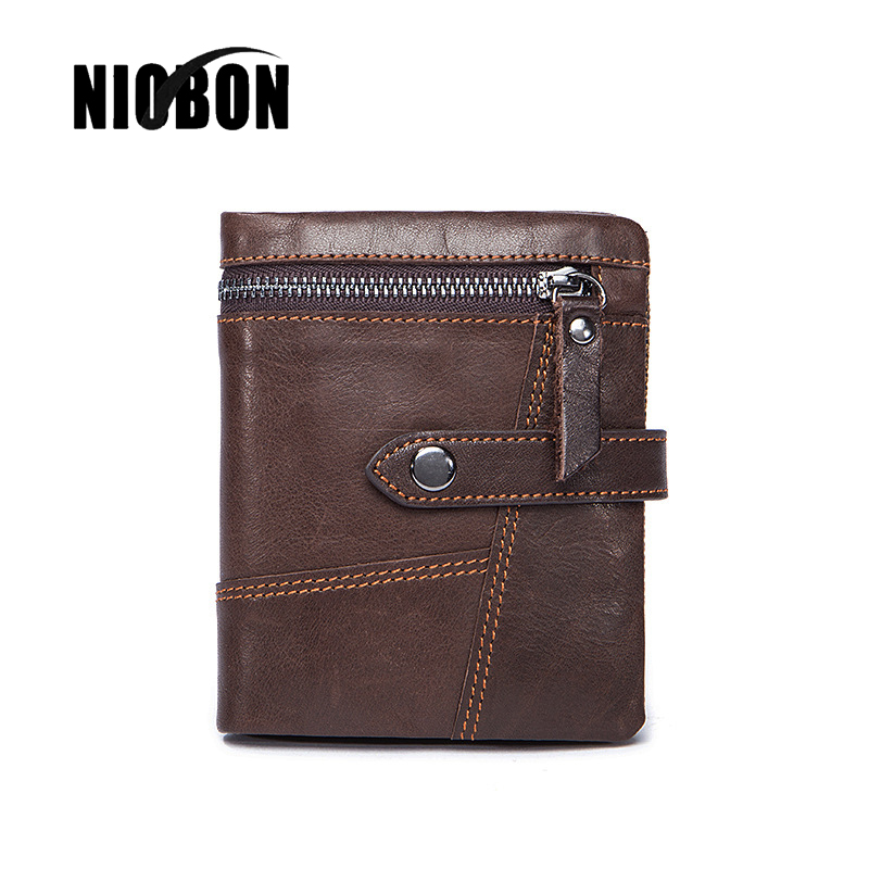 NIOBON Luxury Men Wallets With Zipper Coin Pocket Men's Wallet For Male Clutch Man Purse Small Man Wallet Zipper Card Holder baellerry man wallets portefeuille homme card holder coin pocket cuzdan rfid male cuzdan purse clutch short purse with 6 styles