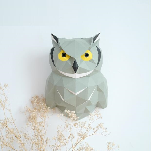 3D Paper Model Owl Papercraft Home Decor Wall Decoration Puzzles Educational DIY Kids Toys Birthday Gift 1451