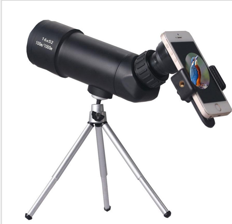 High Definition Spotting Scope 16x52 Telescope Outdoor Sports Waterproof Birdwatch Hunting Monocular High Definition Spotting Scope 16x52 Telescope Outdoor Sports Waterproof Birdwatch Hunting Monocular