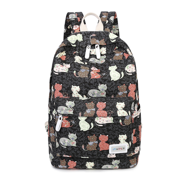 New Design Cat Animal Printing Backpack Teenage Girls School Bag Women Backpack Travel Bag Large Capacity Bag Kids Rucksack
