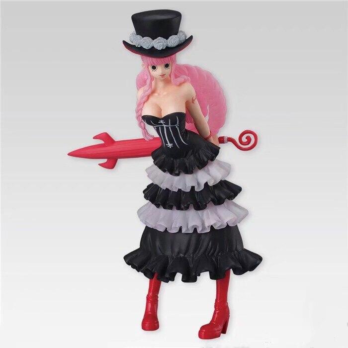 Anime One Piece Ghost Princess Girly Girls Perona Black Dress Chair Ver.Figure N