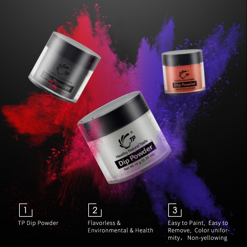 Nail Salon Dipping Powder: Dipping Powder 10ml No Lamp Cure Natural Dry Dip Powder