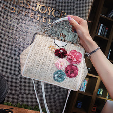 Fashion Womens Bags Flowers Ladies Straw Bag Luxury Handbags Women Shoulder Designer Light Female Rattan Beach Summer