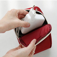 купить Travel Gadget Organizer Bag Portable Digital Cable Bag Electronics Accessories Storage Carrying Case Pouch Case For Earphone по цене 129.35 рублей