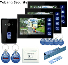 Yobang Security Freeship 7″Door Access Control Video Doorbell Waterproof Indoor Camera Doorbell Phone Video Intercom Camera