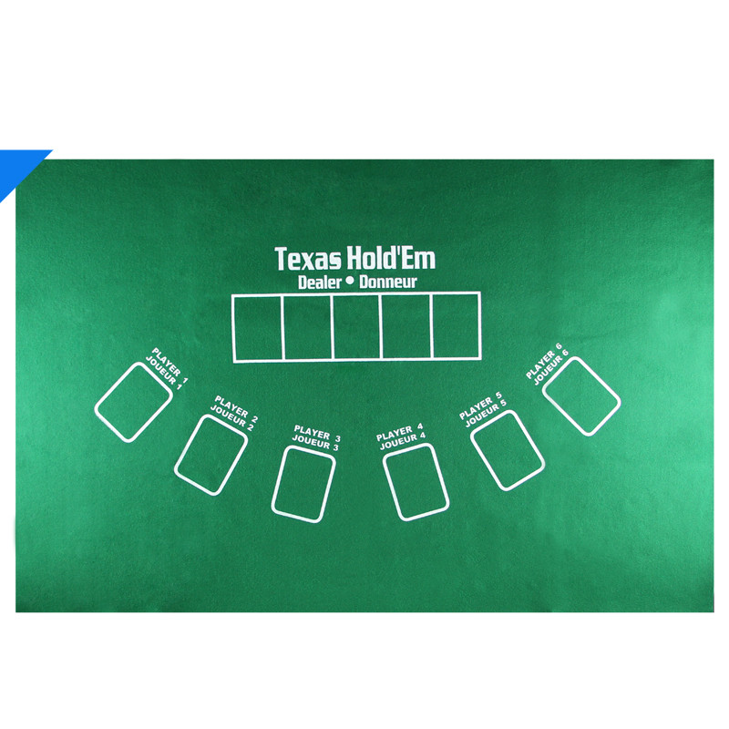 INSTOCK 1 Piece 90*60cm Double Side Multi-Function Texas Holdem Poker Set Flannel Table Cloth Dealer Donneur For Gambling Enter