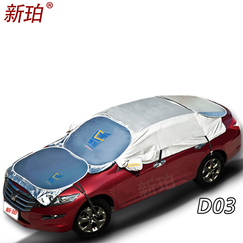 Waterproof outdoor sun protection car half and engine cover for car reflector dust rain snow protective suv sedan hatchback car wind oxford waterproof car covers outdoor cotton sun protection dust rain snow protective suv sedan hatchback cover for car