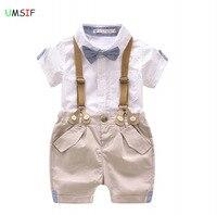 2018 Hot Summer Baby Boy T Shirt Shorts Overalls Design Infant Toddler Cotton Boy Girl Summer