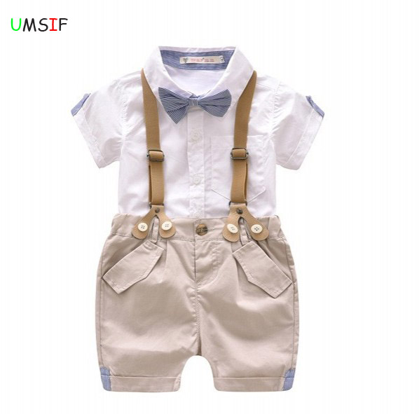 c21fb355b1850 2018 hot Summer boy t shirt blouse+shorts overalls design toddler ...