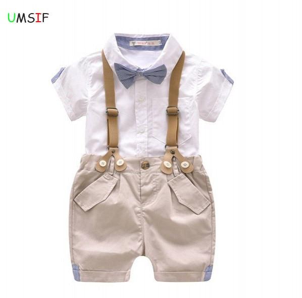 401f3c0b73bf 2018 hot Summer boy t shirt blouse+shorts overalls design toddler ...