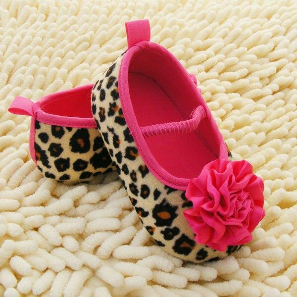 Nueva Cabritos de La Muchacha Zapatos de Bebé Leopardo Peonía Flor Infant Toddle