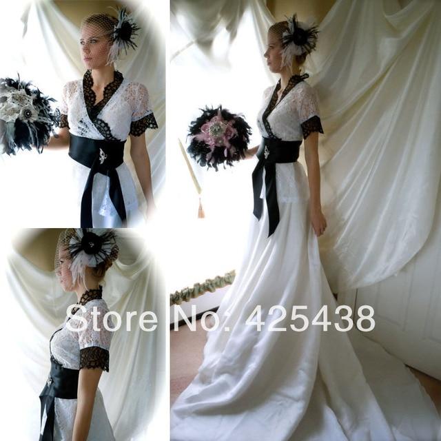 Gothic White Wedding Dress To choose standard size for white