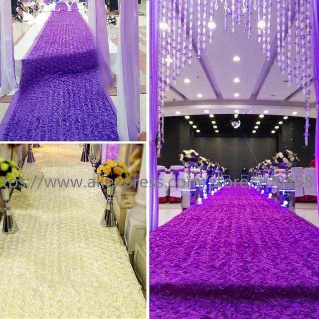 5 Meter 3d Rose Wedding Aisle Carpet Runner For Church Long Cheap