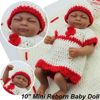 New Arrive 28cm Full Silicone Reborn Black Girl Baby Dolls Real Touch Dolls Mini Bebe Reborn Babies Toys for Early Education