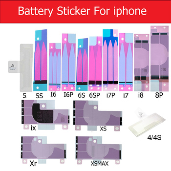 Autocollant de batterie pour iPhone XS Max XR X 8 Plus 7 Plus 6S 6 plus 5S SE 5C 5 4S 4 batterie adhésif colle adhésif ruban adhésif remplacer les bandes