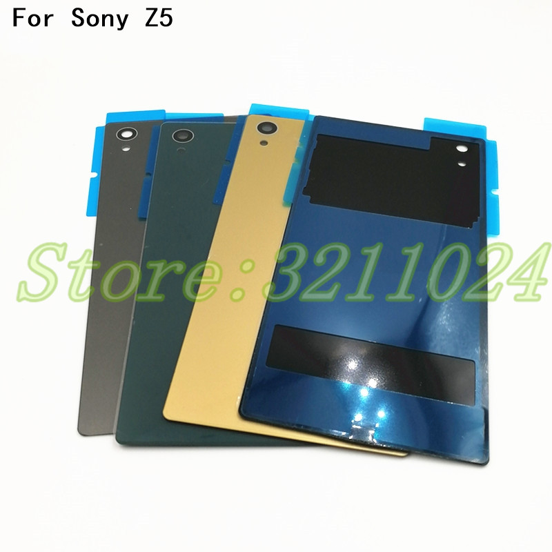 5.2 Inches For Sony Xperia Z5 E6603 E6633 E6653 E6683 Rear Back Glass Battery Cover Door Housing With Logo+NFC