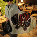 Classic Fashion Charm Scarf Women Rayon Fabric Warm Soft Butterfly Graffiti Printing Pashmina Scarf  Big Size Long Scarves Shawl