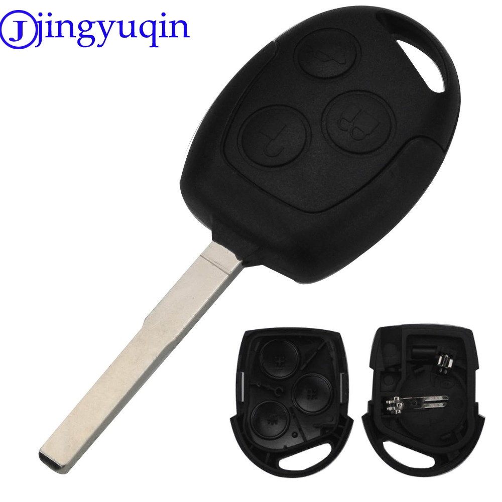 все цены на jingyuqin 3 Buttons Remote Car Key Shell Case Fob HU101 For FORD Fusion Focus Fiesta C-Max Car Key Case онлайн