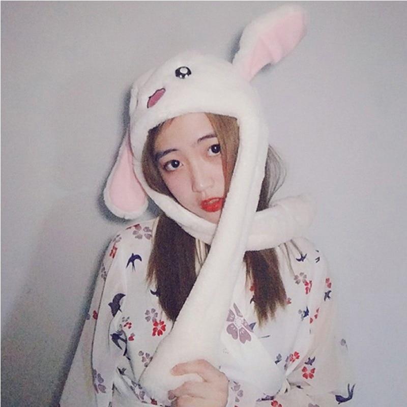 YFGXBHMX Новый стиль привлекательные дети мягкие Pinch перемещение уха кролика водителя магнит Hat танец плюшевые игрушки для подарка