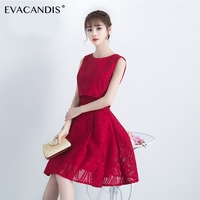 Red Short Party Dress Sleeveless Elegant Evening Summer Designer Sexy Strapless Christmas Dress Women Vestidos De Fiesta