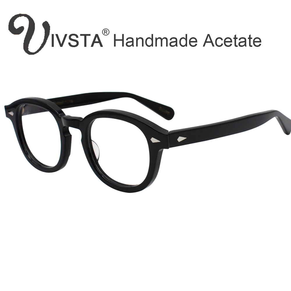759a23f053f Produs IVSTA with Logo Handmade Acetate Frame Women Johnny Depp Glasses Men  Brand Designer Tortoise Optical Spectacle Demi Myopia -