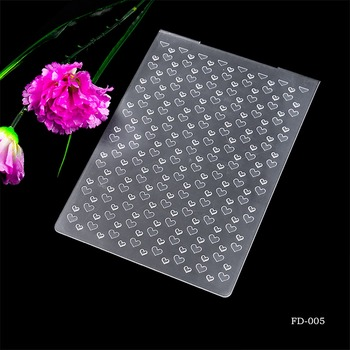 2019 New Arrival Scrapbook heart-shaped  Design DIY Paper Cutting Dies Scrapbooking Plastic Embossing Folder