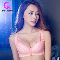 2017 Summer Thin Underwear No Ring Lace Bra Women Without Magnetic Convergence Adjust Large Yards Factory