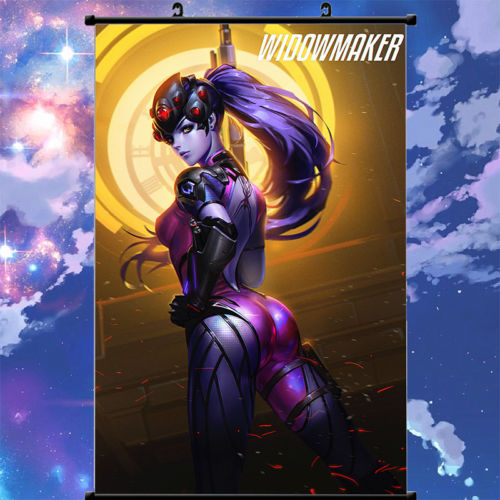 Wall Murals Scroll Painting Poster Blizzard Game Overwatch Widowmaker