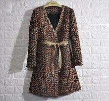 2017 ladies primary coats,superb winter coat jaqueta feminina plus dimension abrigos mujer elegant tweed jacket,5xl 6xl casaco feminino