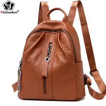 Casual Women Backpacks High Quality Leather Backpack Large Capacity School Bag for Girls Outdoors Travel Shoulders Backpack 2019 nucelle brand design women s fashion color blocking cover casual cow leather girls ladies backpack shoulders travel school bag