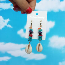 Sea Shell Earrings For Women Gold Color Trendy Metal Cowrie Statement Dangle 2019 New Summer Beach Jewelry