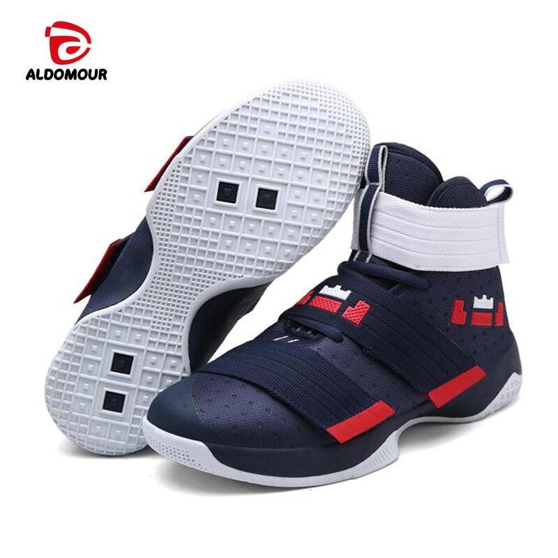ALDOMOUR Basketball Shoes Men Sneakers Plus Size 36 45 Basket Homme Trainers Zapatos De Baloncesto Chaussures