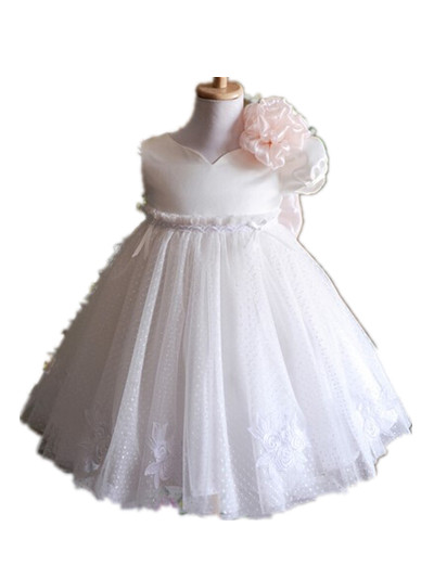 BABY WOW White Ivory New Born Baby Girl Christening Gowns Lace Baptism Christmas Clothes Birthday Dress