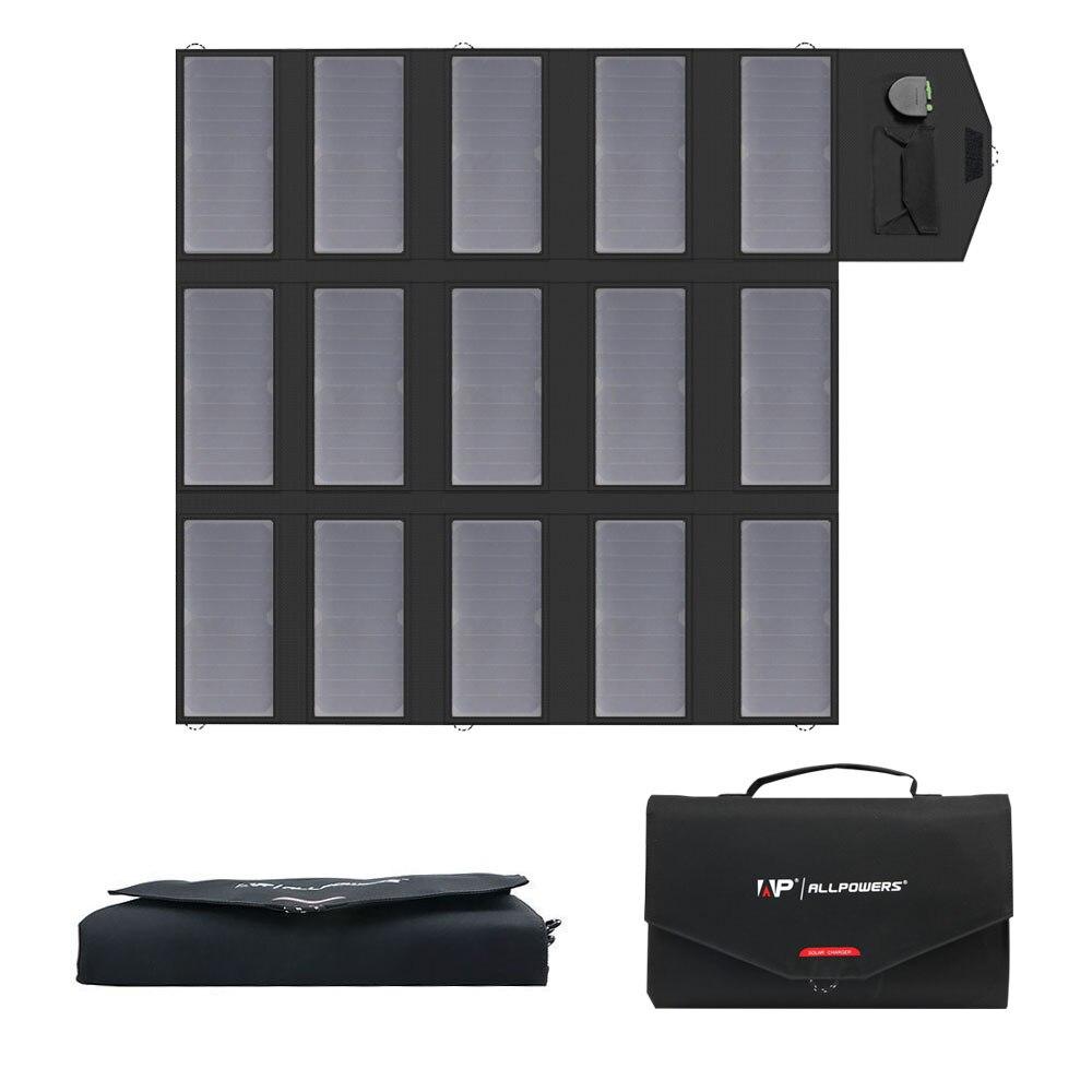 ALLPOWERS Portátil Painel Solar Charger 100 w 18 v 12 v Dobrável Painel Solar Carregador de Bateria Solar Portátil para iPhone telefones celulares