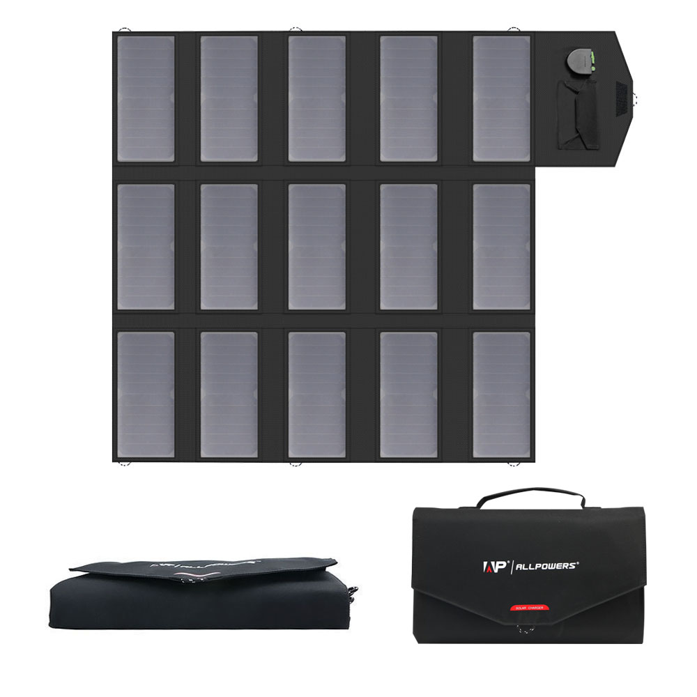 Portátil del cargador del Panel Solar 100 W 18 V 12 v plegable del Panel Solar del cargador de batería Solar para iPhone para teléfonos móviles