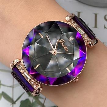 Luxury Brand ladies Watch Women Magnet Buckle Dress Watches Fashion Women Stainless Steel Quartz Watch Clock Women reloj mujer