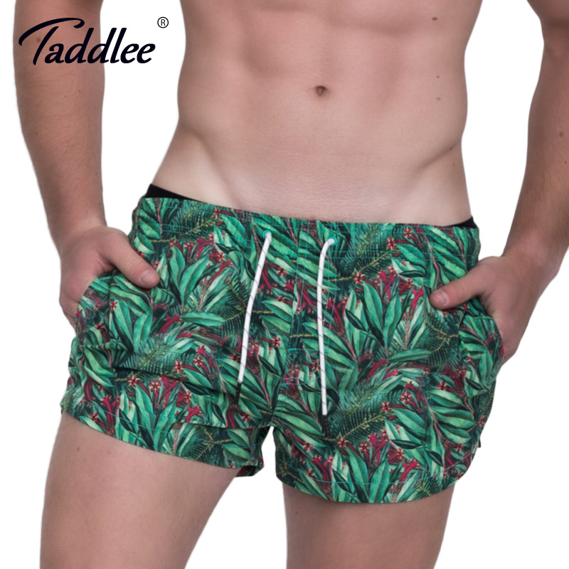 Taddlee Brand Men Beach   Shorts     Board   Boxer Trunks   Shorts   Boardshorts Men's Fashion Swimwear Swimsuits Casual Active Bottoms New