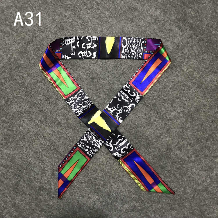 Nuovo Stampa Sacchetto della Maniglia Nastri di Marca Piccola Sciarpa Di Seta Per Le Donne di Modo Testa Sciarpa Piccolo Lungo Skinny Sciarpe All'ingrosso