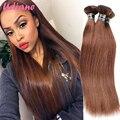 New Year Deals Brazilian Straight Hair Extension Remy Straight Human Hair 3 Bundles Jet Black Brown Brazilian Virgin Hair Weave